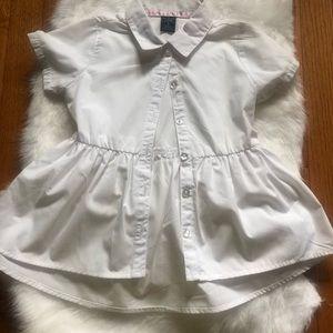 White school girl blouse